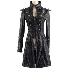 Jacket Harbinger of Death - Gothic, industrial, steam punk coats ($101) ❤ liked on Polyvore