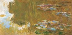"""Claude Monet, """"The Water Lily Pond"""" 1917-1919. In these paintings Monet tried to create a sense of expanding infinity/continuity, trying to present the immediate experience of nature. Revelation of the continuity of consciousness"""