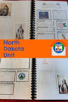 North Dakota Unit #geographylesson #USgeography #homeschooling Us Geography, Geography Lessons, Alternative Education, Unit Studies, Home Schooling, Lessons For Kids, Homeschool Curriculum, North Dakota, Teaching Tips