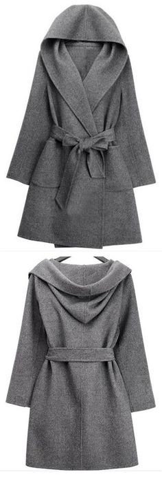 We'd snatch this coat up in a New York minute if we were you. New York Minute Robe Coat features robe belt and oversized hood. More amazing pieces at CUPSHE. fall coats for women chic Coats 2018, Winter Mode, Mode Hijab, Mode Outfits, Autumn Winter Fashion, Fall Fashion, Mode Inspiration, Fall Coats, Coats For Women
