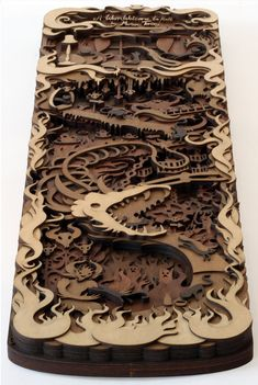 Fancy - Multi-layered Laser-cut Wood Artworks by Martin Tomsky Laser Art, 3d Laser, Laser Cut Wood, Laser Cutting, Cardboard Sculpture, Cardboard Art, Sculpture Art, Sculptures, Laser Cutter Ideas