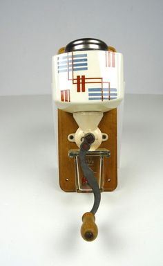 GERMAN BAUHAUS COFFEE GRINDER WALL MOUNTED ART DECO PERIOD SUPREMATISM VINTAGE