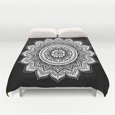 Black and white mandala duvet cover/mandala by haroulitasDesign