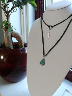 Double necklace with choker by GemesisJewels on Etsy