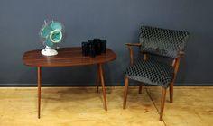 mesa auxiliar, decada muebles vintage www.decada.com.mx