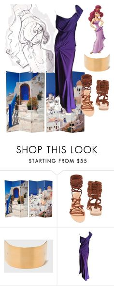 """""""Have a Little Sass"""" by mel-c-n ❤ liked on Polyvore featuring Ancient Greek Sandals, Disney, John Galliano, disney, hercules, Meg and polyvorecontest"""