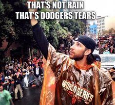 Dodgers' Tears 2014 World Series, Madison Bumgarner, Forty Niners, Victory Parade, Dodger Blue, Giants Baseball, Buster Posey, Home Team, San Francisco Giants
