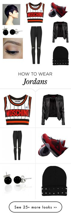 """Untitled #112"" by alternative-outfits on Polyvore featuring moda, Moschino, NIKE, Boohoo, Ally Fashion e Bling Jewelry"