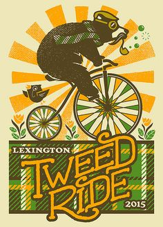 Tweed Ride 2015 - Screenprinted Poster