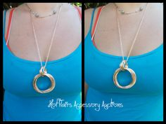 Deco Necklace in gold tone Go to:  facebook.com/hotflairs  etsy.com/hotflairs