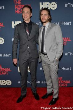 Taylor Kitsch & Jim Parsons at NYC  Premiere The Normal Heart