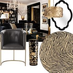 Black and Gold Room Idea