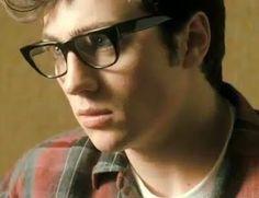 """Nowhere Boy (2009) Aaron Johnson as John Lennon """"It's my Buddy Holly look"""" :D"""