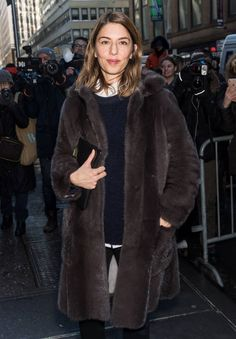 Screenwriter Sofia Coppola is seen arriving at the Calvin Klein Collection fashion show with new chief creative officer Raf Simons during New York Fashion Week on February 10, 2017 in New York City.