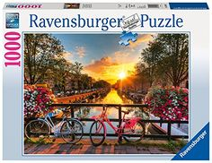 Fietsen in Amsterdam 1000 delige puzzel door Ravensburger Uk Landscapes, Landscape Paintings, Canvas Home, Canvas Art, Buddha, Paint By Number Kits, London Hotels, Beautiful Sunrise, Creative Activities