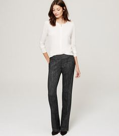 THIS LOOK-Image of Herringbone Trousers in Julie Fit with 31