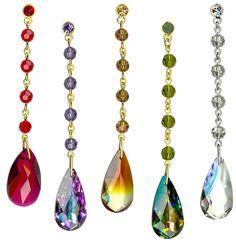 I love crystals hanging in windowsHung in windows, crystals can bring chi energy from the outside into dark areas of your home or office.A crystal placed in the south-east, north-west, or center of a room can aid in stimulating prosperity.