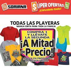Ropa nueva para toda la familia en estas próximas vacaciones, ven a Soriana Híper  Aplica al 7 de Abril.