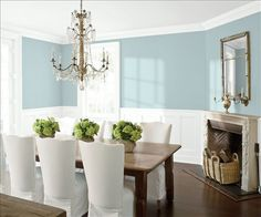 Look at the paint color combination I created with Benjamin Moore. Via @benjamin_moore. Wall: Yarmouth Blue HC-150; Trim