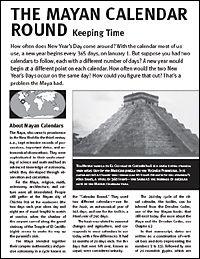 Mayan Math And Heiroglyphics Worksheet Handout Math And