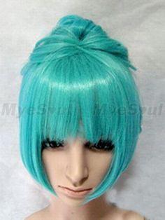 green wig | Vocaloid Miku Pale Green Wig