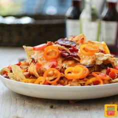 Party Nachos with a Portuguese Flair. Find this recipe and more at www.sundaysuppermovement.com. #SundaySupper