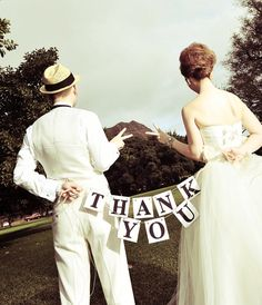 Another addition to my RUSTIC style banner family-    This banner is perfect for your wedding pictures to use for your THANK YOU cards! It