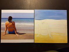 """Peinture acrylique sur bois Format 6"""" x 6"""" Tableau 6 de 15"""