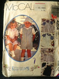 Vintage McCall's 4204 Toddler's Jumpsuit Shortall by Bigwheel179, $2.00
