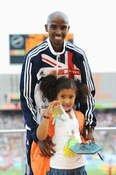 Mo Farah, Somali Athlete.  is a Somali-born British international track and field athlete, and current 5000 m world champion. On the track, he generally competes over 5000 metres and 10,000 metres, but also runs the 3000 metres and occasionally the 1500 metres. He has expressed a desire to move up to the marathon after the 2012 Olympics.