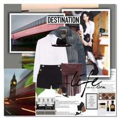 """""""Destination London"""" by rainie-minnie ❤ liked on Polyvore featuring maurices, R13, T By Alexander Wang, Boutique Moschino, B-Low the Belt, Brixton, Maiyet, BYRON, NYX and Tom Ford"""