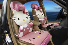 12PCs Hello Kitty Auto Car Front Rear Seat Cover  (VG-005)