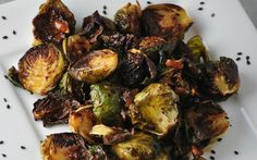 <p>These Brussels sprouts are baked to crispy perfection and then drizzled with a savory-sweet BBQ sauce. </p>