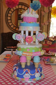 """candyland birthday party ideas   Candyland Birthday Cake created by """"A Dream Come True""""   Party Ideas @Marj Jenkins"""
