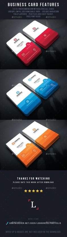 Color Shade Business Cards Template PSD #design Download: http://graphicriver.net/item/color-shade-business-cards/14012868?ref=ksioks