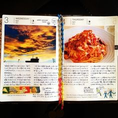 DIARY | Diary page idea. Put a photo of the day
