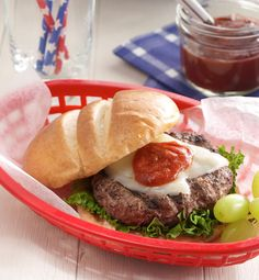 These juicy burgers are full of family favorite flavors - Italian seasoning, cheese and pizza sauce.