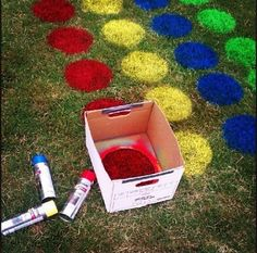 Giant-Sized Classic Games to Play Outside Grass Twister for graduation party? something for all the little cousins to doGrass Twister for graduation party? something for all the little cousins to do Summer Activities, Outdoor Activities, Party Activities, Youth Activities, Fun Crafts, Crafts For Kids, Party Crafts, Kids Diy, Outdoor Fun