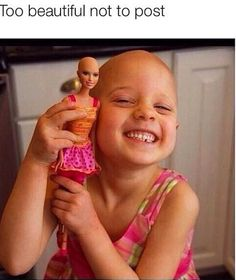 That is so amazing.  I love how they did that to her Barbie...  My cousin had cancer, she was oy 7 when she passed if you have ever had someone in your family die from cancer repost...  This started in Candler,  North Carolina.  Hoe far can it go??