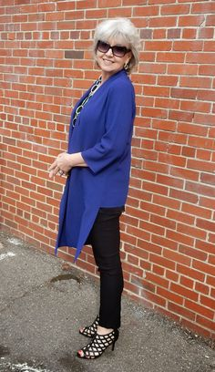 The clothing as well as the necklace, cuff and shoes are from Chico's. Fifty, not Frumpy: Sunday Brunch