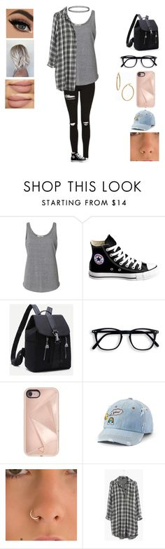 """""""Untitled #3001"""" by pinki123456 ❤ liked on Polyvore featuring Converse, Rebecca Minkoff, SO, Madewell and Bony Levy"""