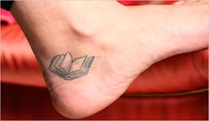 Cute book tattoo
