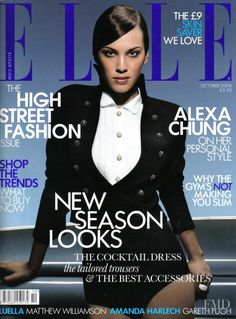 Cover of Elle UK with Alexa Chung, October 2008