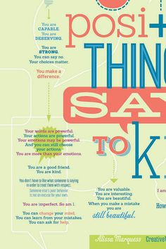 64 Positive Things to Say to Kids Print 18x24