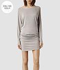 Femme Timi Dress jumper shirt (Opal Grey Marl) | ALLSAINTS.com #dress #women #covetme