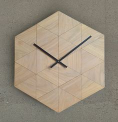 T24_clock_oak Properties Of Materials, Architecture Design, Minimalism, Clock, Pure Products, Home Decor, Material Properties, Watch, Homemade Home Decor