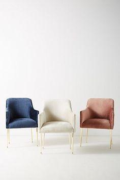 Slub Velvet Elowen Armchair #ChairComedores #VelvetChair