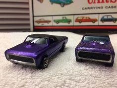 VTG Original PAIR 1967 1968 Hot Wheels Redline Custom Fleetsides  Two Purples  #HotWheels #Chevrolet
