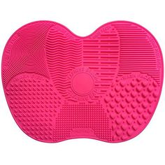 Makeup Brush Cleaner VAKO MakeUp Brush Cleansing Mat Portable Silicone Brush Cleaner Travel Brush Cleaner pad Cosmetic Brush Scrubber for both Eye and Face Brushes MatRed *** Want to know more, click on the image.