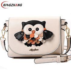 16.98$  Buy here - http://ali9ug.shopchina.info/1/go.php?t=32376727971 - 2017 new fashion women leather handbags cartoon bag owl fox shoulder bags women messenger bags wallte cute bolsa mujer L4-1108  #magazine